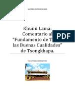 Khunu Lama El Fundamento de Todas Las Buenas Cualidades