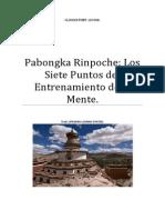 Pabongka Rinpoche Siete Puntos de Adiestramiento de La Mente