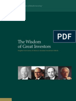 Wisdom of Great Investors