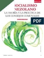El Socialismo Venezolano La Teoria y La Practica de Los Consejos Comunales