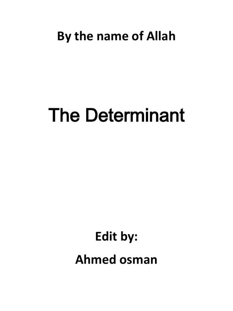 Determi Ants Determinant Matrix Mathematics