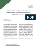 El proceso de fatiga del hormigón y su influencia estructural