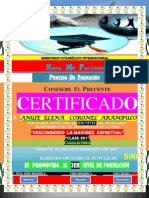 (Angie) Certificado de Promocion (2do Nivel)