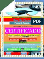 (Emilce) Certificado de Promocion (2do Nivel)
