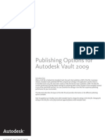 Publishing Options for Autodesk Vault 2009