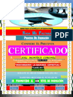 (Joel) Certificado de Promocion (2do Nivel)