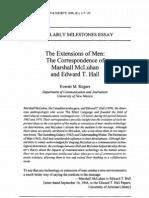 Mc Luhan Hall the Correspondence of Marshall Mcluhan and Edward T Hall