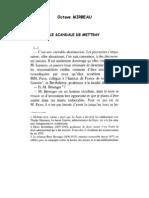 Octave Mirbeau, « Le Scandale de Mettray »