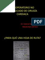 POSOPERATORIO NO COMPLICADO DE CIRUGÍA CARDIACA