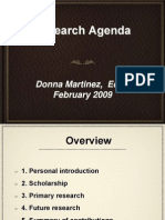 Dr. Donna Martinez Research Presentation