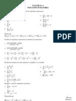 Taller de Notacion Sumatoria