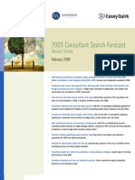 2009 Consultant Search Forecast Annual Survey
