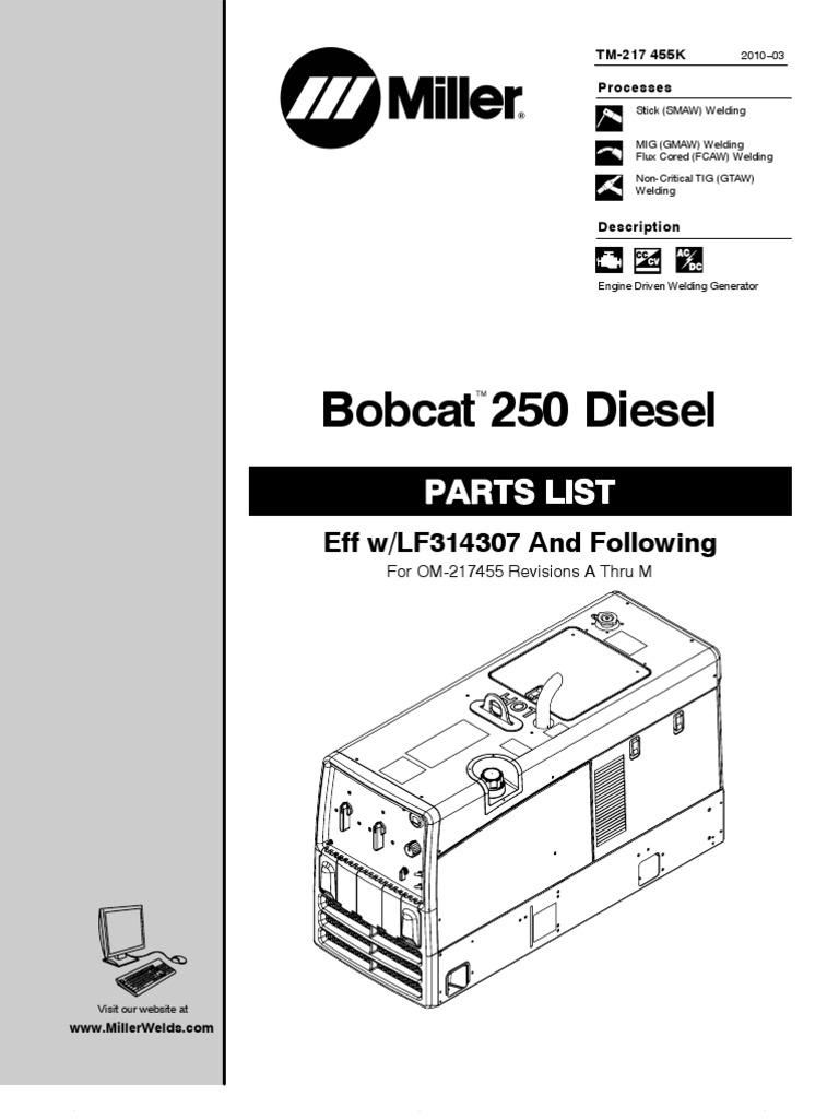 miller bob cat 250 diesel   electrical connector   mechanical engineering