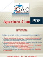 Apertura Comercial 2012