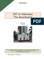 057 Ar Rahmaan - The Beneficient