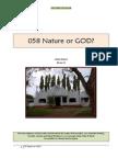 058 Nature or GOD?