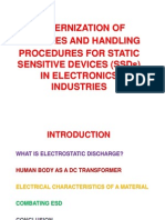 Handling Procedures For Static Sensitive Devices and Electro Static Discharge Phenomenon