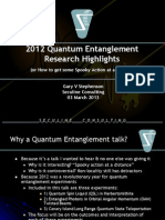 BIL 2013 Quantum Entanglement Highlights