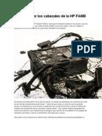 Como Limpiar Los Cabezales de La HP F4480