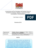 Lineamientos del Plan Estratégico del Sindicato Único de Vendedores de Diarios