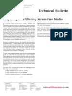 SAFC Biosciences - Technical Bulletin - Preparing and Filtering Serum-Free Media