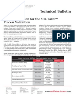 SAFC Biosciences - Technical Bulletin - Microbe Selection for the SER-TAIN™ Process Validation