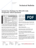SAFC Biosciences - Technical Bulletin - EX-CELL™ 293 Serum-Free Medium for HEK 293 Cells Frequently Asked Questions
