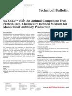 SAFC Biosciences - Technical Bulletin - EX-CELL™ NS0