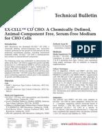 SAFC Biosciences - Technical Bulletin - EX-CELL™ CD CHO