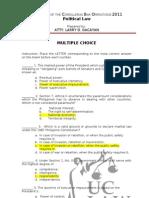 Political Law MCQ(Atty. Gacayan)
