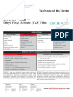 SAFC Biosciences - Technical Bulletin - BIOEAZE Bags — Ethyl Vinyl Acetate (EVA) Film