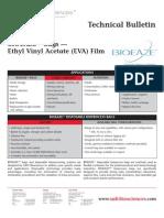 SAFC Biosciences - Technical Bulletin - BIOEAZE Bags — Ethyl Vinyl Acetate (EVA) Film