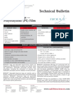 SAFC Biosciences - Technical Bulletin - BIOEAZE Bags — Polyethylene (PE) Film