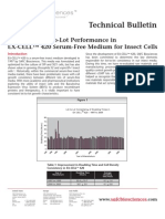 SAFC Biosciences - Technical Bulletin - Consistent Lot-to-Lot Performance in EX-CELL™ 420 Serum-Free Medium for Insect Cells