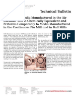 SAFC Biosciences - Technical Bulletin - Cell Culture Media Manufactured in the Air Classifier Mill is Chemically Equivalent and Performs Comparably to Media Manufactured in the Continuous Pin Mill and in Ball Mills