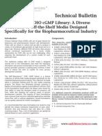 SAFC Biosciences - Technical Bulletin - The EX-CELL® CHO cGMP Library