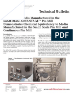 SAFC Biosciences - Technical Bulletin - Cell Culture Media Manufactured in the imMEDIAte ADVANTAGETM Pin Mill Demonstrates Chemical Equivalency to Media Manufactured in the Small Scale Pin Mill and Continuous Pin Mill