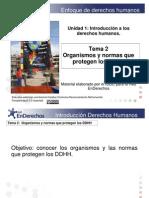 Tema 2 Organismos y Normas Que Protegen Los DDHH
