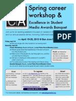 CCMA - Spring 2013 Career Workshop & Excellence in Student Media Awards Banquet