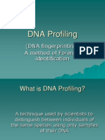 DNA Fingerprinting DNA Profilingpowerpoint