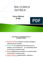 Historia Clinia Pediatrica PowerPoint