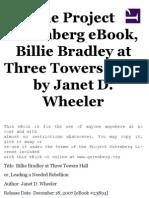 Billie Bradley at Three Towers Hall