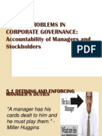 AGENCY PROBLEMS IN CORPORATE GOVERNANCE