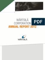 Wartsila Annual Report 2012.