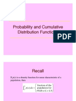Cumulative Distribution