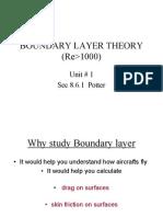 1 Boundary Layer Theory