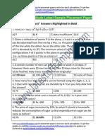 ABB Group Sample Aptitude Placement Paper
