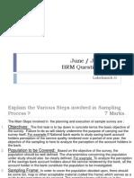 June July 2011 BRM Question Paper