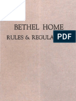 1931 Bethel Home Rules