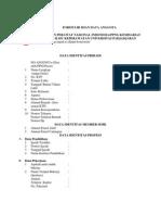 Formulir Isian Data Anggota Ppni Komisariat Fkep Unpad